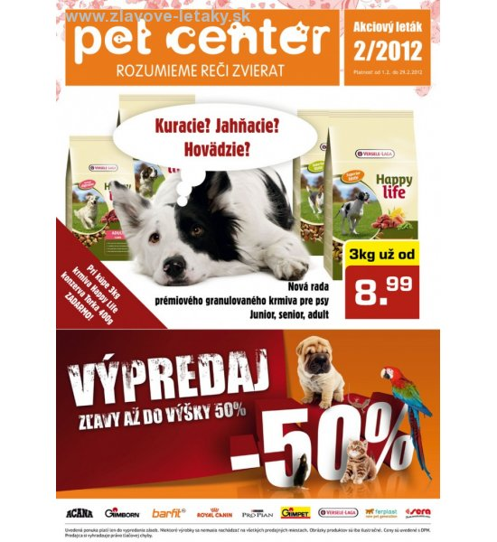 Pet Center leták strana 1
