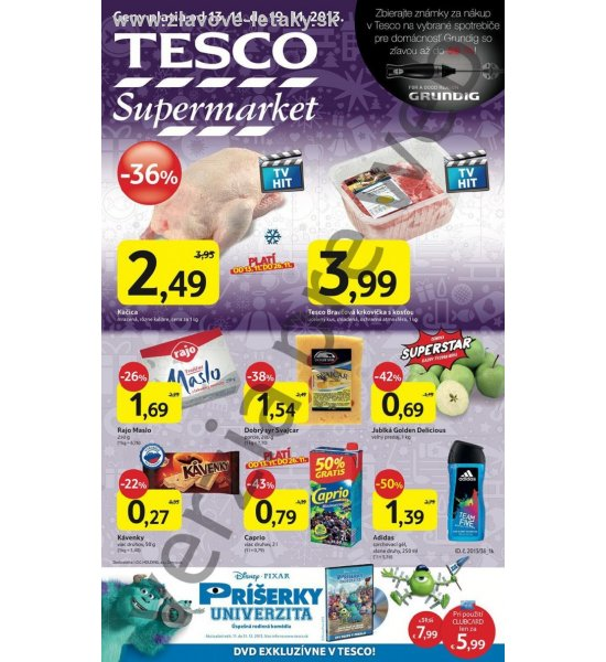 leták supermarketu Tesco strana 1